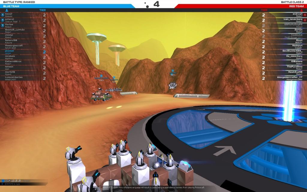 Robocraft begin match